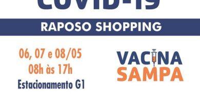 Raposo Shopping promove Mega Drive-Thru de Vacinação
