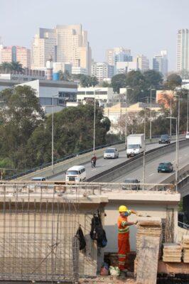 Veja como está a futura ligação da ponte do Alphaville com a avenida Café do Ponto